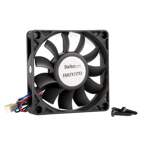 Startech Fan7x15tx3 70X15mm Replacement Ball Bearing Computer Case Fan W/ Tx3 Connector