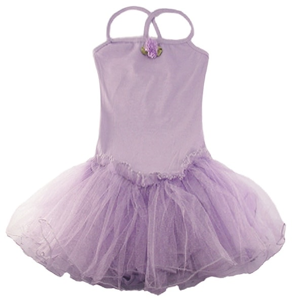 ddc5a4945bf Shop Reflectionz Purple Rosette Tutu Leotard Dance Dress Toddler Girl 2T-8  - Free Shipping On Orders Over  45 - Overstock - 18120361