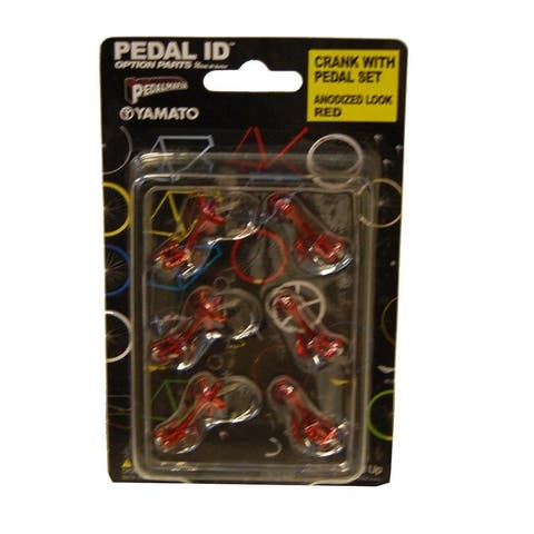 Pedal Id Crank With Pedal Set Anodized Look Red - Multi