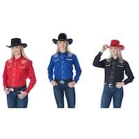 Women's Retro Western Shirt - Star Design