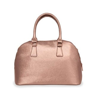 "15"" Iceware Insulated Rose Gold Bowler Lunch Handbag"