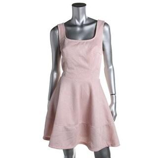 Mystic Womens Juniors Textured Sleeveless Party Dress