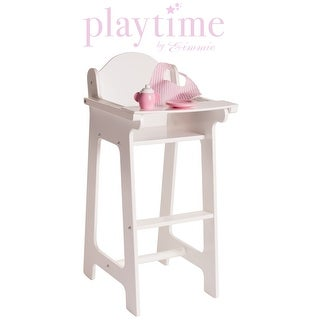 Eimmie 18 Inch Doll Furniture High Chair with Accessories