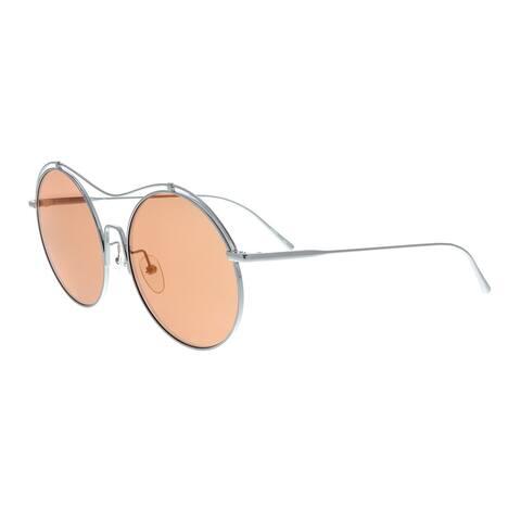 Calvin Klein CK2161S 060 Shiny Gunmetal Round Sunglasses - 56-18-140