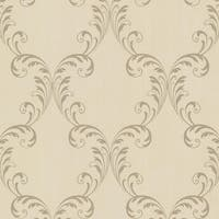Brewster 2542-20737 Quill Brass Ironwork Leaf Wallpaper - N/A
