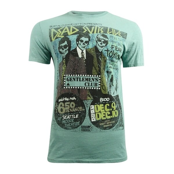 823e442e50d835 Shop Buffalo David Bitton Men's Narock Graphic-Print T-Shirt (M, Aqua) -  aqua - m - Free Shipping On Orders Over $45 - Overstock - 19581357