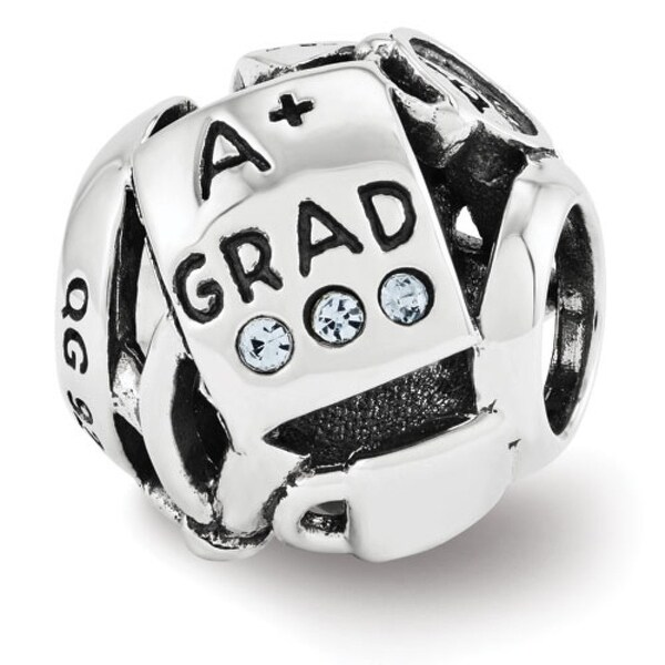 Sterling Silver Reflections Swarovski Elements Graduation Collage Bead (4mm Diameter Hole)