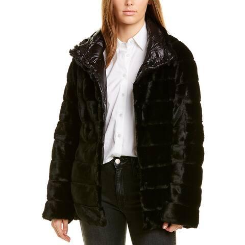 Kensie Reversible Quilted Plush Jacket