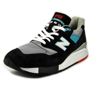 New Balance M998 Men  Round Toe Suede Black Sneakers