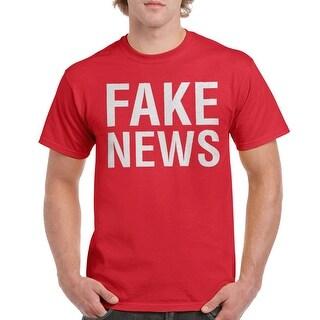 9dd7dfc6ebcb4 Fake News Men's Red T-shirt | Overstock.com Shopping - The Best Deals on  Men's T-Shirts