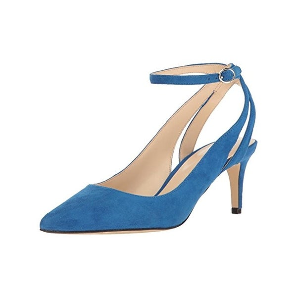 Nine West Womens Shawn Dress Heels Pointed Toe Ankle Strap