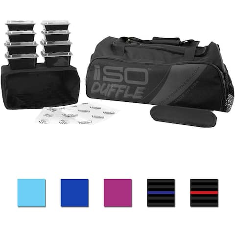 Isolator Fitness ISODUFFLE Meal Management Gym Bag - One Size