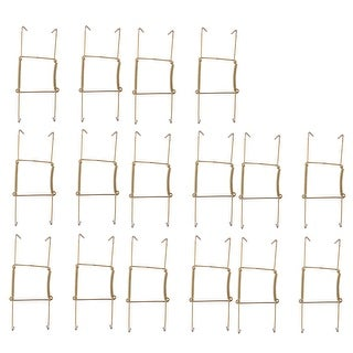 Link to Metal 6 to 7 Inch Spring Plate Hangers Wall Holder Hook Display  16pcs - Gold Tone Similar Items in Kitchen Storage