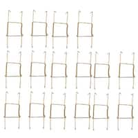 Metal 6 to 7 Inch Spring Plate Hangers Wall Holder Hook Display Gold Tone 16pcs - Gold Tone