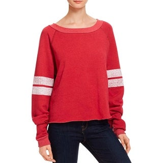 Wildfox Couture Womens Pullover Sweater Varsity Stripes
