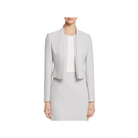 BOSS Hugo Boss Womens Jasika Collarless Blazer Crepe Office Wear