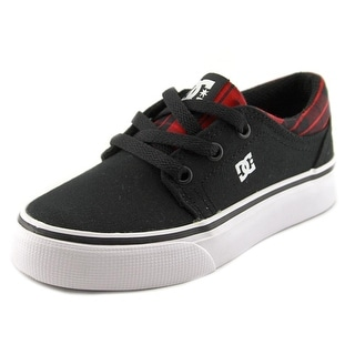DC Shoes Trase TX SE Youth Round Toe Canvas Black Skate Shoe