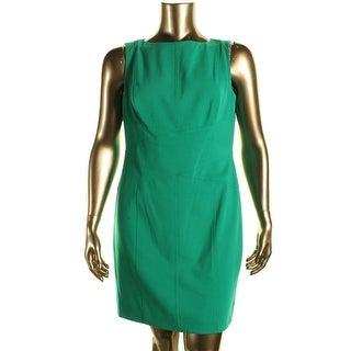 Lauren Ralph Lauren Womens Petites Sleeveless Knee-Length Wear to Work Dress