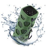 AGPtek Wireless Bluetooth Speaker w/ Power Waterproof and dustproof Loud Blue Tooth Speakers-Green