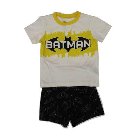 DC Comics Little Boys Yellow Batman Print T-Shirt 2 Pc Shorts Set