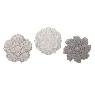 IMAX Home A0380046  Three Piece Polyurethane Wall Flowers by Ella Elaine - Multi-Colored