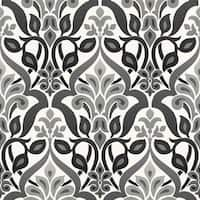 Brewster 2535-20648 Fusion Black Ombre Damask Wallpaper