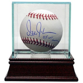 Ozzie Guillen signed Official Major League Baseball w/ Glass Case 05 WS Champs (Chicago White Sox)