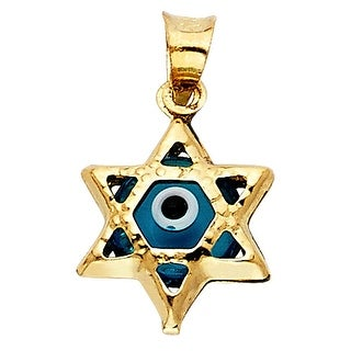 MCS JEWELRY INC 14 KARAT YELLOW GOLD STAR OF DAVID CHARM PENDANT (18MM)