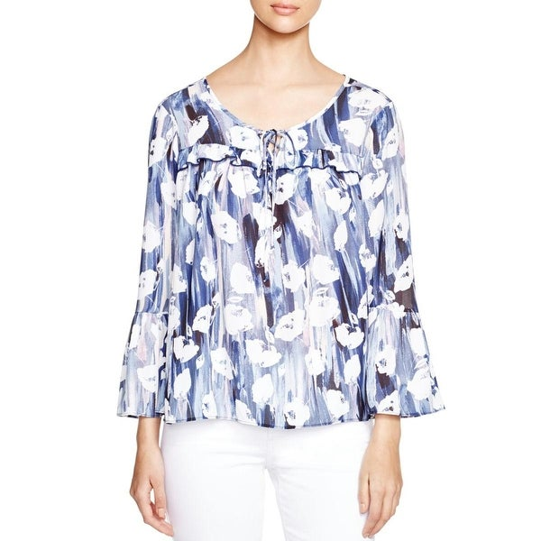 Status by Chenault Womens Casual Top sheer Pattern