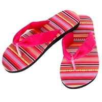 Mad Style Pink Aztec Slides