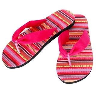 Mad Style Pink Aztec Slides