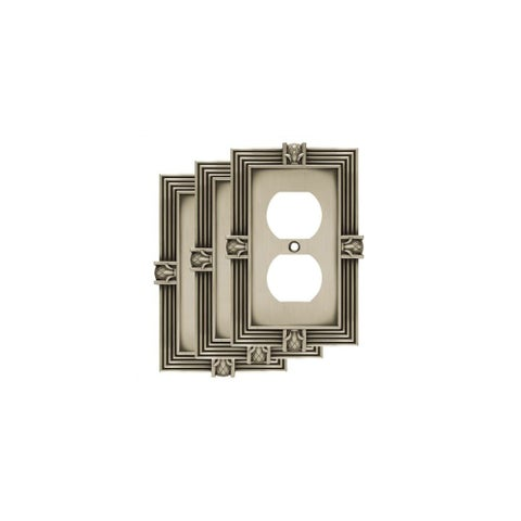 Franklin Brass W10274V-R Pineapple Single Duplex Outlet Wall Plate - Pack of 3 - N/A