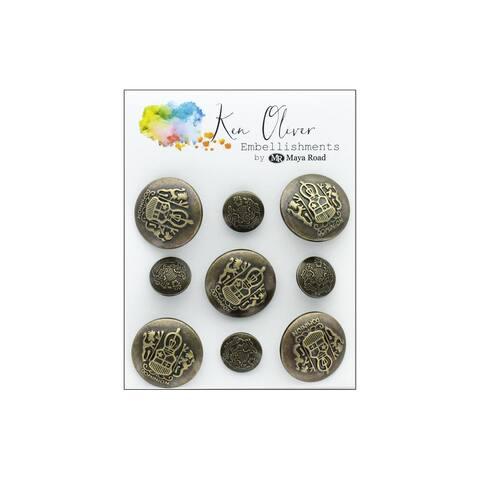 Myko3389 maya road koliver vintage charms ornate buttons