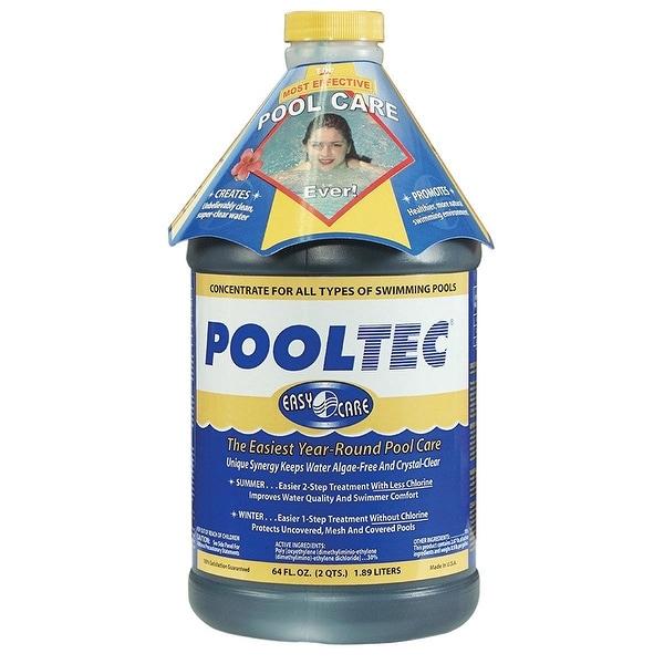 EasyCare 30064 PoolTec Algaecide Clarifier and Chlorine Salt Cell Booster 64 oz
