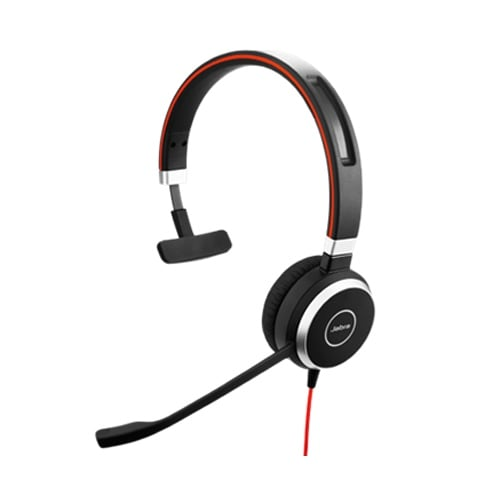 Jabra Evolve 40 UC Mono Corded Headset w/ Noise Canceling Microphone