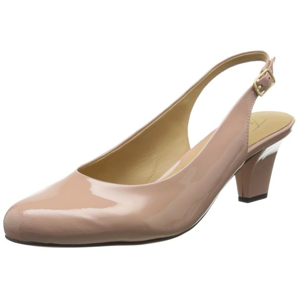 Trotters Pink Women's Shoes 6N Pella Patent Leather Slingback