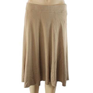 Alfani NEW Beige Camel Women's Size XS A-Line Seamed Fit & Flare Skirt