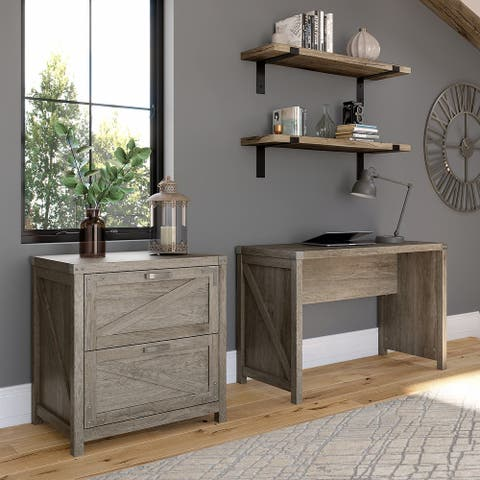 Cottage Grove 48W Writing Desk with File Cabinet by Bush Furniture