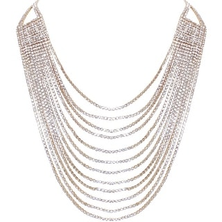 Link to Humble Chic Darling Waterfall Bib Necklace Multi-Strand Chain CZ Simulated Diamond Collar Similar Items in Necklaces