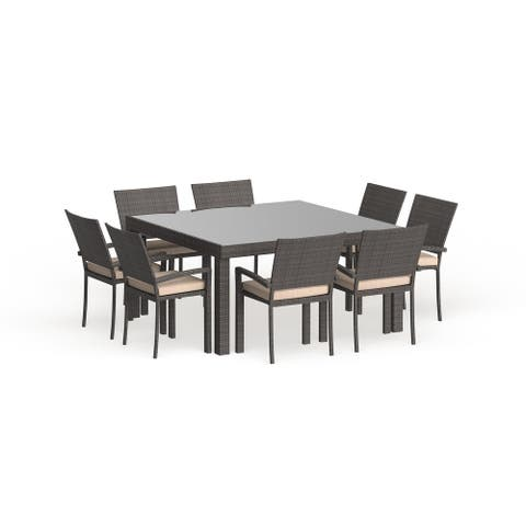 Popham 9-piece Square Grey Dining Set by Havenside Home