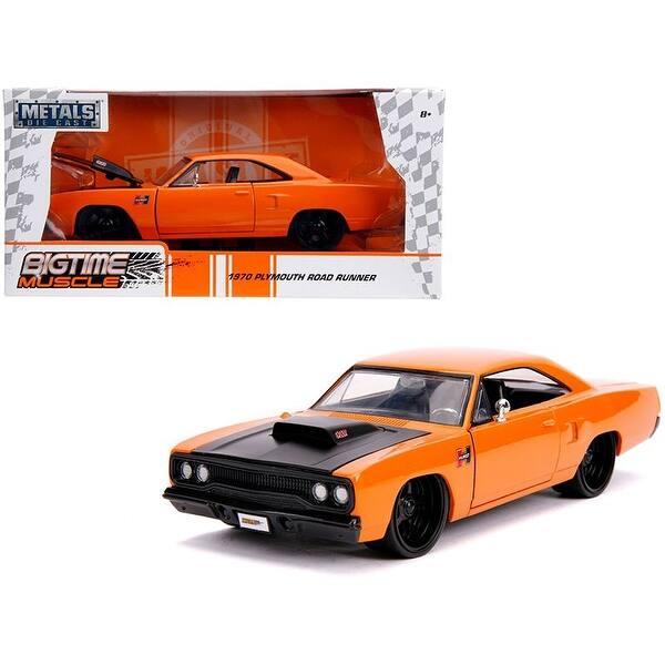1969 Dodge Charger Daytona Die-cast Car 1:24 Jada Big Time Muscle 8 inch Orange