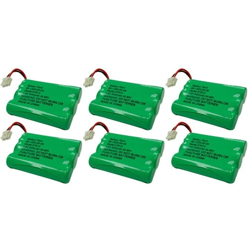 Replacement VTech DS3101 / i6765 NiMH Cordless Phone Battery - 600mAh / 3.6V (6 Pack)
