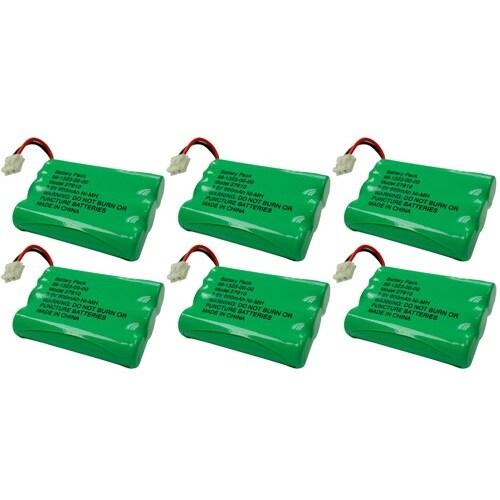 Replacement VTech i6786 / i6767 NiMH Cordless Phone Battery - 600mAh / 3.6V (6 Pack)