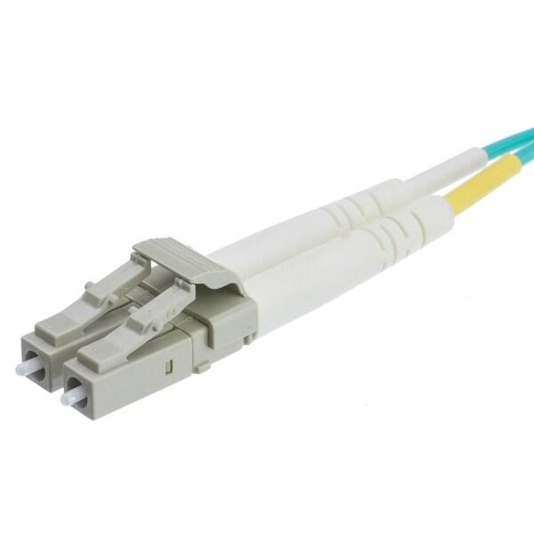Offex Plenum 10 Gigabit Aqua Fiber Optic Cable, LC / LC, Multimode, Duplex, 50/125, 3 meter (10 foot)