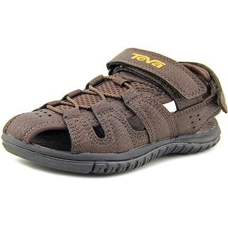 Teva Bayfront Youth Round Toe Synthetic Brown Fisherman Sandal