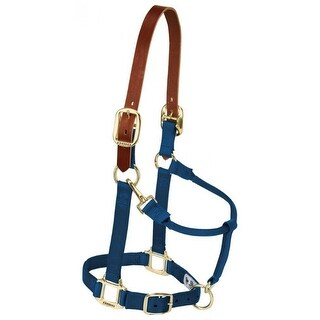 Weaver 35-6025-NV Breakaway Original Adjustable Chin and Throat Snap Halter,Navy