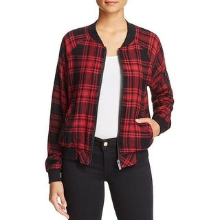 Sanctuary Dylan Plaid Lightweight Bomber Jacket Coat - S