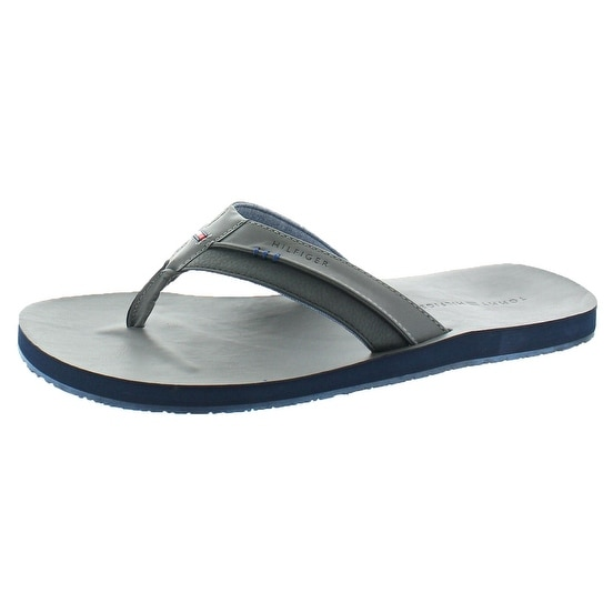 Tommy Hilfiger Davidson Men's Faux Leather Flip Flops