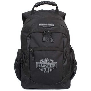Harley-Davidson Men's Classic Bar & Sheild Backpack, Black BP1932S-BLACK