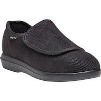 Propet Women's Cush N Foot Black Corduroy